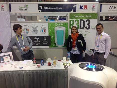 #CES2015 : R3D3, la contre-attaque des poubelles intelligentes et connectées est en marche - Maddyness | Startup & Appli | Scoop.it