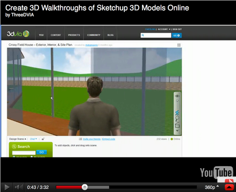 Create 3D Walkthroughs of Sketchup 3D Models Online | Media & Art Education | Scoop.it