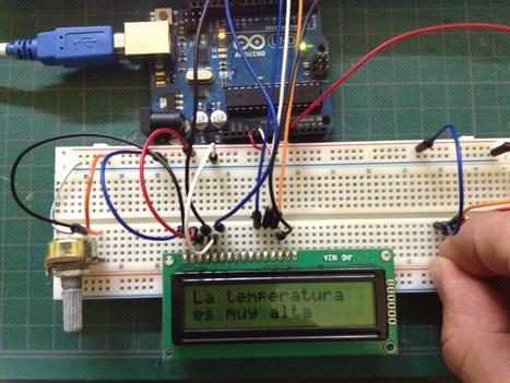 Lección 16 - Arduino - LCD Display + Sensor de temperatura | arduino | Scoop.it