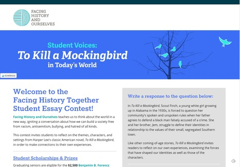 Facing History Together Student Essay Contest - Facing History and Ourselves | Common Core Resources for ELA Teachers | Scoop.it