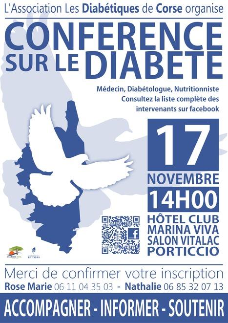 Conférence sur le diabète, le 17 novembre 2012, à 14h00, à Hotel Club Marina Viva - Porticcio. | ADC | Scoop.it
