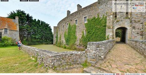 Visite virtuelle - Devant le château de Pirou - France par Pascal Moulin | moulin360panoramic | Scoop.it