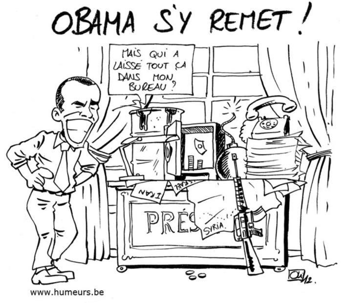 Obama se remet au travail ! | Baie d'humour | Scoop.it