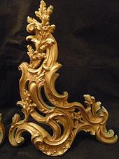 Objets de décoration, Grands chenets de style Louis xv, du XIXe ...   Meubles de style ancien   Scoop.it