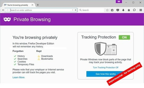 Mozilla veut rendre la navigation privée encore plus privée sur Firefox - Presse-citron (Blog) | netnavig | Scoop.it