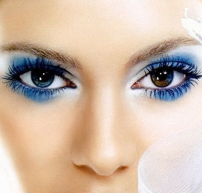 White and Blue Eye Makeup | At Home Beauty Treatments | Scoop.it