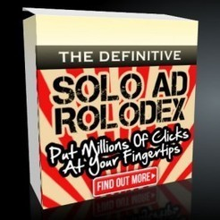 The Definitive Solo Ad Rolodex 2013 Review – Best Solo Ads 2013 That will Give You Massive Affiliate Link Clicks and High Conversion Sales   SEO Article   Scoop.it