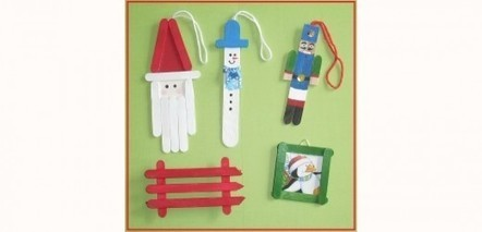 10 идей рождественских украшений из деревянных Эскимо-палочек | ars | Scoop.it