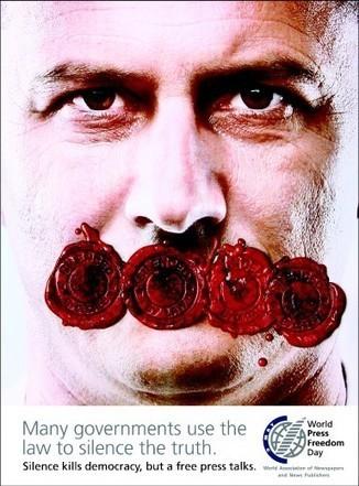 Campagna per la libertà di stampa nel mondo | ■Marketing Creativo - ADV - Campaign | Scoop.it