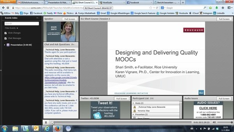 Gevolgd : Educause Short Course / Designing and Delivering a Quality MOOC / Sessie 2, 27/02/2014   Tips: Onderwijs en ICT   Scoop.it