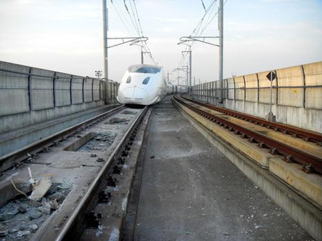 Pictures reveal serious damage to Shinkansen in Kyushu:The Asahi Shimbun | Railway anthology | Scoop.it