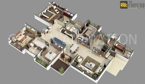 Isometric Images | 3D Floor Plan | 3D Floor Plan Design | 3d animation | Scoop.it