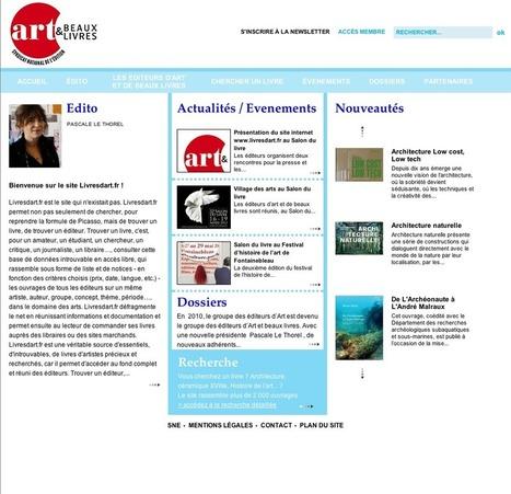 Un site Internet pour les éditeurs d'art | BiblioLivre | Scoop.it