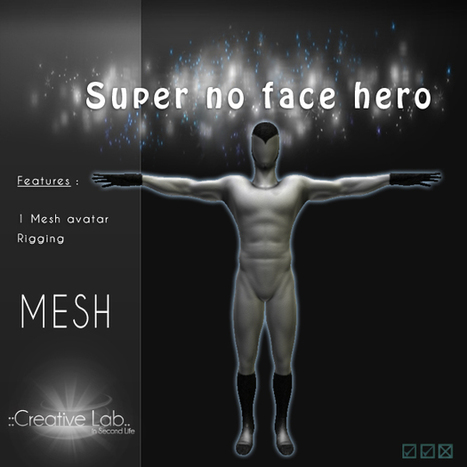 Mesh Super No Face Hero Avatar by Creative Lab | Teleport Hub | Second Life Freebies | Scoop.it