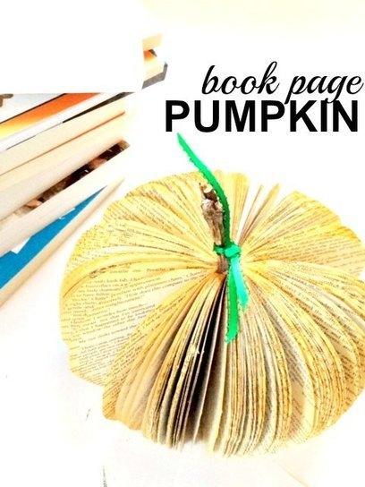 My new little book page pumpkin. - Modern Mrs. Darcy | Homeschooling Our Children | Scoop.it