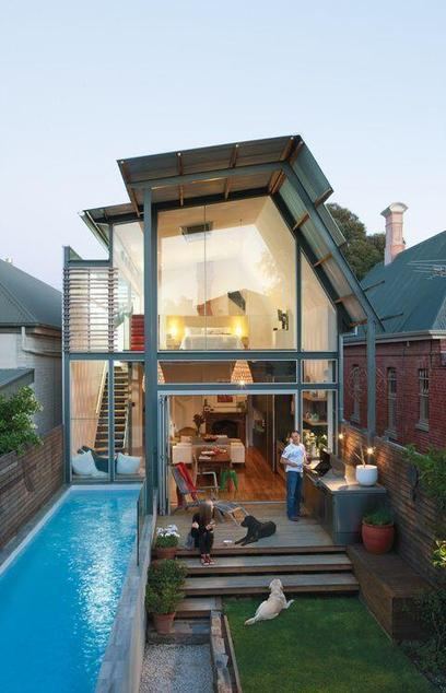 Twitter / MeuAnjo74: Modern home with unique pool! ... | House | Scoop.it