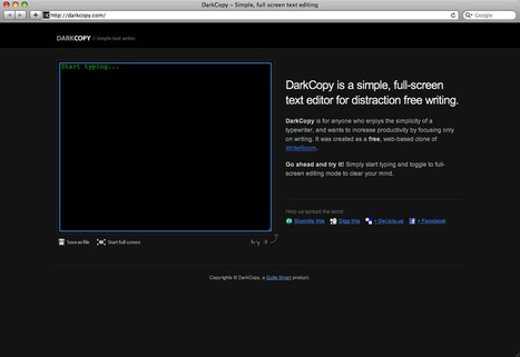 DarkCopy editor di testo online gratuito | Software e App per Scrivere un Libro | Scoop.it
