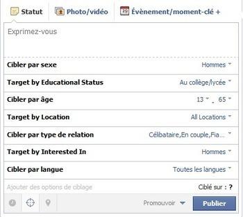 Facebook lance les options de ciblages sur les pages | eTourisme & web marketing | Scoop.it