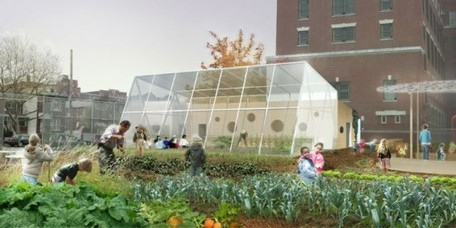 WORKac Adds a Cheery Greenhouse and Kitchen to P.S. 216's Edible Schoolyard | Inhabitat New York City | Organic Farming | Scoop.it