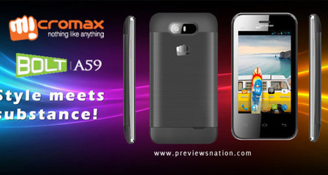 Micromax Bolt A59 Full Specifications, Key Features, Price in India | Latest Smartphones | Scoop.it