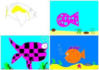 Art With Mr Hall: Techno Fish | Interesting KS2 teaching bits | Scoop.it