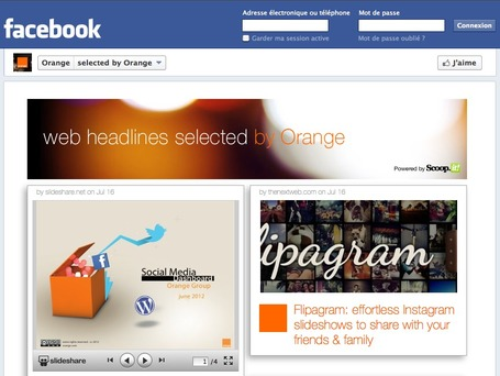 Scoop.it dans la page Facebook d'Orange! | Du Bon Usage des Réseaux Sociaux | Scoop.it
