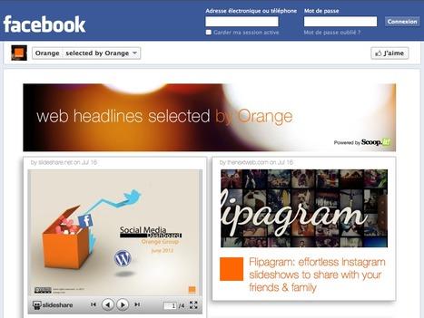 Scoop.it dans la page Facebook d'Orange! | Tout sur Timeline Facebook | Scoop.it