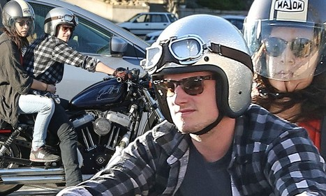 Josh Hutcherson takes mystery brunette for a ride on his motorcycle | Josh Hutcherson | Scoop.it