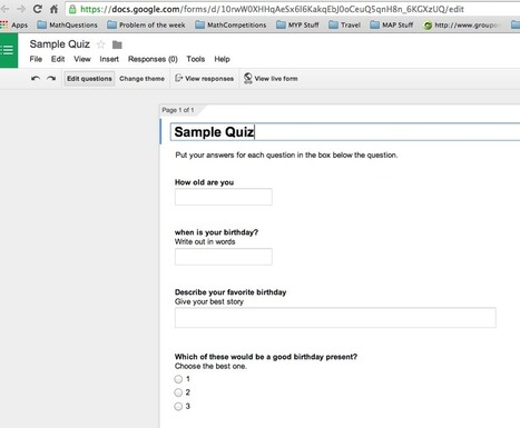 Math Tech Tips: New Script that will create Google Forms from questions in a Spreadsheet | Using Google Drive in the classroom | Scoop.it