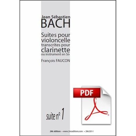 JS Bach Suite n°1 pour clarinette Pdf - 2Mc Editions | A propos de 2Mc éditions | Scoop.it