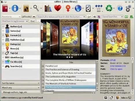 Calibre: gestor y organizador gratuito de libros electrónicos | Escuela, biblioteca, bibliotecari@s | Scoop.it