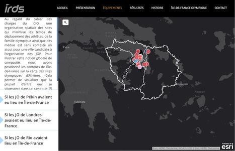 JO-VIZ Paris 2024 | les contours de l'Île-de-France sur la carte des sites olympiques d'Athènes | URBANmedias | Scoop.it