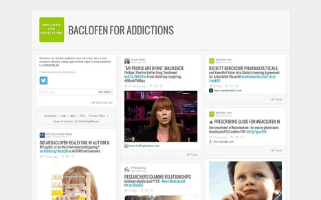 Baclofen for Addictions - twitter stream | Baclofen - Medical Resources | Scoop.it