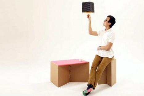 DIY Living : des cartons d'emballage convertibles en meubles | Efficycle | Scoop.it