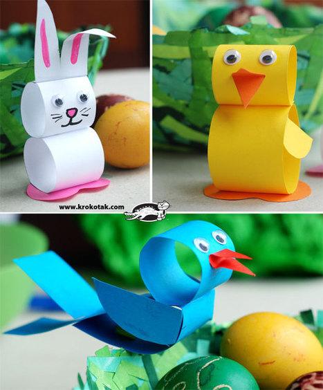 Spring Paperstrip animals | Manualidades para niños | Scoop.it