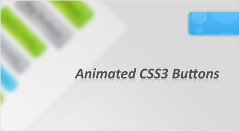 CSS3 Animated Bubble Buttons | Tutorialzine | Diseño | Scoop.it