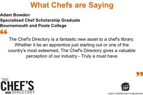 Win a copy of The Chefs Directory 2015 in our Competition | Food Trends & News | Scoop.it