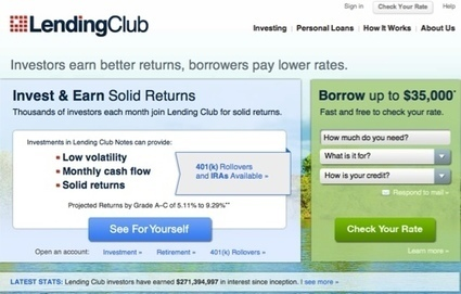 Lending Club Tops $3 Billion Mark for Personal Loans Originated - Finovate | Peer-to-peer lending, Crowdfunding | Scoop.it