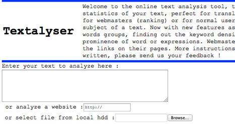 Text analysis, wordcount, keyword density analyzer, prominence analysis | TELT | Scoop.it