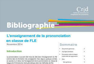 L'enseignement de la prononciation en clase de FLE  -  Bibliographie - CRID | Espace Pédagogique FLE | Scoop.it