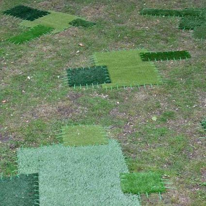 Hannah Streefkerk: Repaired lawn | Art Installations, Sculpture, Contemporary Art | Scoop.it