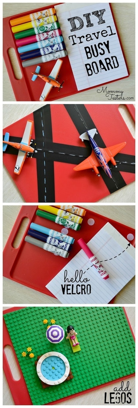 Mommy Testers: DIY Travel Busy Board for Kids - a DIY Lego board too! | Heron | Scoop.it