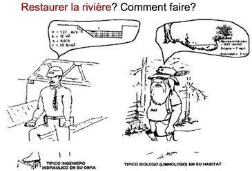 Humour : ingénieur/écologue - vision d'une rivière | Interdisciplinarité | Scoop.it