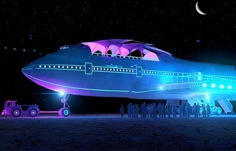 VIDEO. Festival Burning Man: Un Boeing 747 transformé en boîte de nuit   Aviation & Airliners   Scoop.it