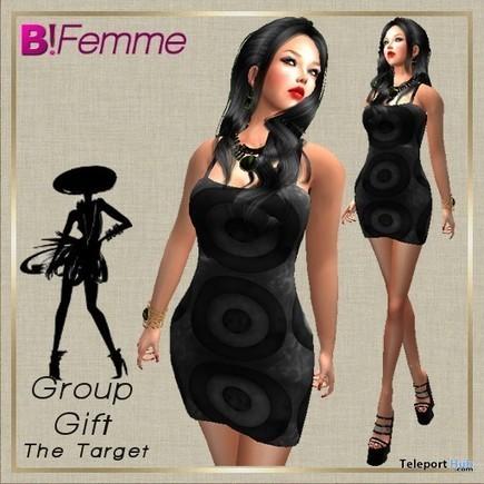Tight Mini Dress Target, July 2015 Group Gift, B!Femme, | Teleport Hub - Second Life Freebies | Second Life Freebies | Scoop.it