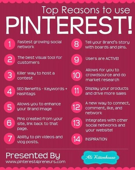 Top Reasons to use Pinterest #Infographics | social media | Scoop.it