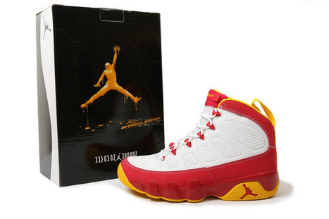 Nike Air Jordan 9 Crawfish Red and White Yellow | new and popular list | Scoop.it