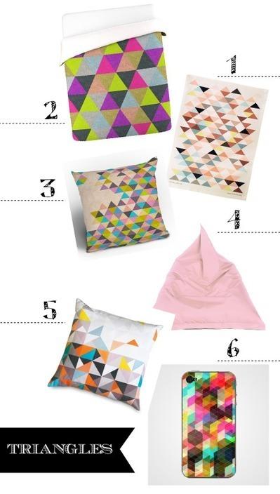 { Les Jeudis graphiques } J'aime les triangles ! | DecoCrush blog déco, idées déco | décoration & déco | Scoop.it