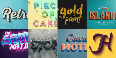 40 effets & scripts originaux pour vos typographies avec Photoshop | Web Increase | Scoop.it