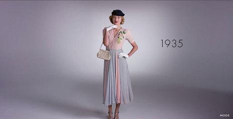 Modni vremeplov, 100 godina u samo 2 minuta | Plezir | istorijski i scenski kostim | Scoop.it